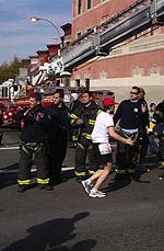 07 High Fiving Brooklyn Fireman
